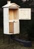 Velká dřevěná udírna o celkové výšce 190cm z borového dřeva